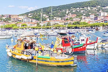 Marina harbour, Lerici, La Spezia district, Liguria, Italy, Europe