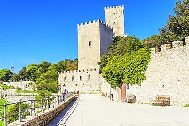 View of Balio Castle, Erice, Sicily, Italy, Europe
