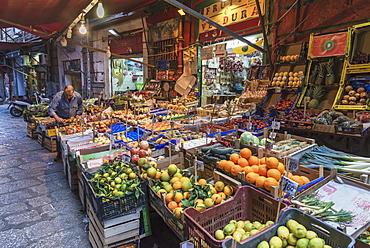 Vucciria market, Palermo, Sicily, Italy, Europe