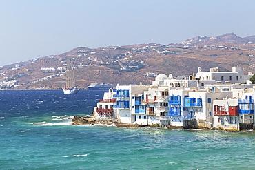Little Venice, Mykonos Town, Mykonos, Cyclades Islands, Greek Islands, Greece, Europe