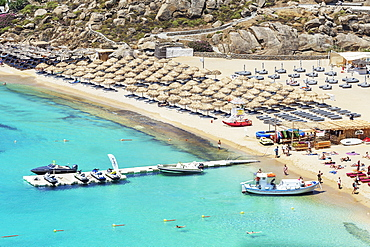 Super Paradise Beach, Mykonos, Cyclades Islands, Greek Islands, Greece, Europe