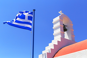 Greek Orthodox chapel, Mykonos Town, Mykonos, Cyclades Islands, Greek Islands, Greece, Europe