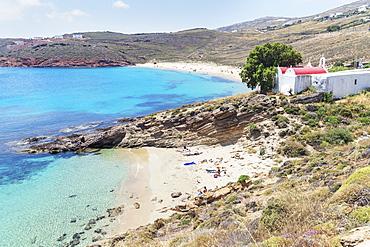 Kalafati Beach, Mykonos, Cyclades Islands, Greek Islands, Greece, Europe