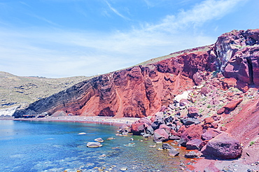 Red Beach, Santorini, Cyclades Islands, Greek Islands, Greece, Europe