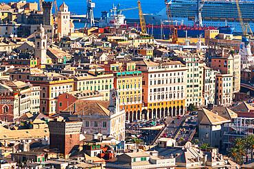 Historic district, top view, Genoa, Liguria, Italy