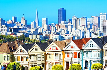 The Painted Ladies, Alamo Square, San Francisco, California, United States of America, North America