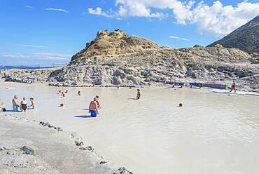 Mud bath, Vulcano Island, Aeolian Islands, UNESCO World Heritage Site, Sicily, Italy, Mediterranean, Europe
