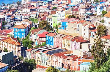 Traditional houses, historic district, Valparaiso, Chile, South America