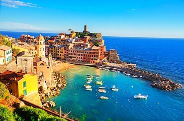 Vernazza, Cinque Terre, Liguria, Italy,