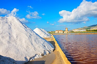 Salt Pans, Trapani, Sicily, Italy.