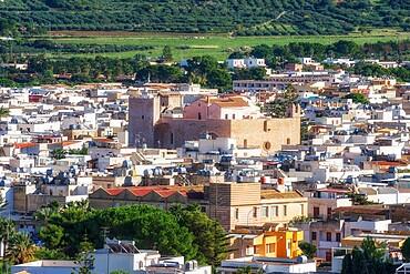 High angle iew of San Vito Lo Capo historic district, San Vito Lo Capo, Sicily, Italy