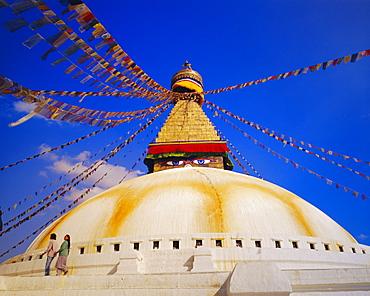 Buddist stupa, Bodnath, Kathmandu, Nepal, Asia