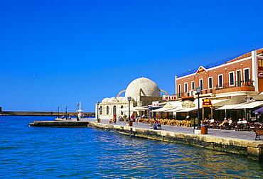 Hania (Chania) seafront and harbour, Hania, island of Crete, Greece, Mediterranean, Europe