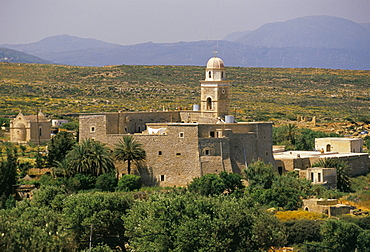 The Christian monastery of Moni Touplou, near Vai, eastern Crete, island of Crete, Greece, Mediterranean, Europe