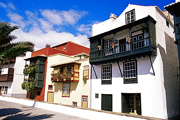 Casa de los Balcones, typical Canarian houses with balconies), Santa Cruz de la Palma, La Palma, Canary Islands, Spain, Atlantic, Europe