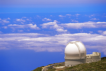 Astrophysic observatory situated near Roque de los Muchachos, La Palma, Canary Islands, Spain, Atlantic, Europe