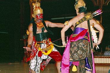 Performance of the Hindu epic, Ramayana, Palais Princier, Yogyakarta, island of Java, Indonesia, Southeast Asia, Asia