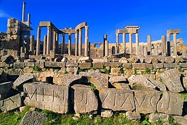 The Theatre,  Dougga, Roman ruins, Tunisia, North Africa