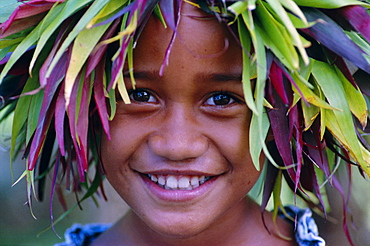 Portrait of a young boy, Atiheu Bay, Nuku Hiva Island, Marquesas Islands archipelago, French Polynesia, South Pacific Islands, Pacific - 724-1260