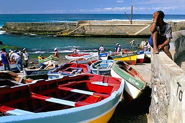 Port of Ribeira Grande, north coat, island of Santo Antao, Cape Verde Islands, Africa