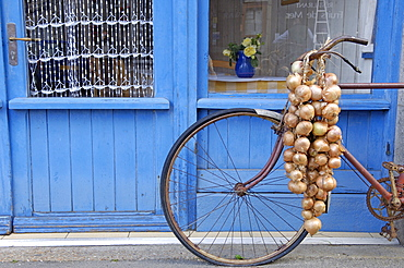 Johnnie's bike, Roscoff, North Finistere, Brittany, France, Europe - 724-1453