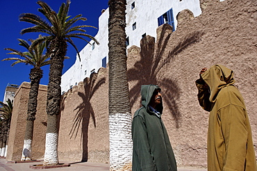 The ramparts in the heart of the medina, Essaouira, historic city of Mogador, Morocco, North Africa, Africa