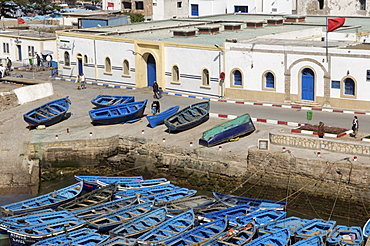 The old fishing port, Essaouira, historic city of Mogador, Morocco, North Africa, Africa