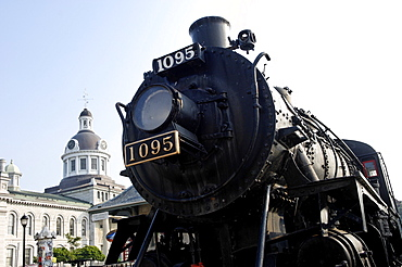 The Spirit of Sir John A, CPR Engine 1095 built by Canadian Locomotive Company in 1913, Kingston, Ontario, Canada, North America