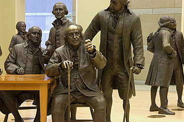 Lifesize bronze statues of the 42 delegates to the Constitutional Convention, Signers' Hall, National Constitution Center, Independence Mall, Philadelphia, Pennsylvania, United States of America, North America