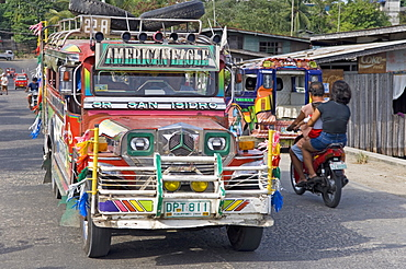 Jeepney, Tagbilaran city, Bohol island, The Philippines, Southeast Asia, Asia