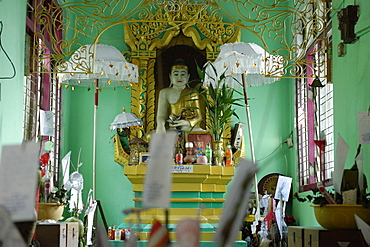 Nats temple, Hsipaw area, Shan State, Republic of the Union of Myanmar (Burma), Asia