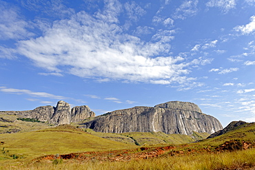 Ifandana rock, the place from which the Betsileo fell preferring death to Merina domination, Madagascar, Africa