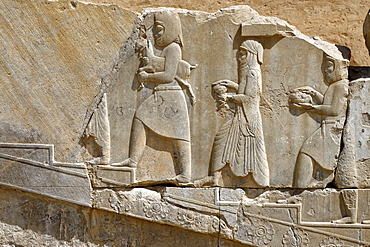 Medes and Arachos priests, The Tachara, the Palace of Darius the exclusive building of Darius I, Persepolis, Iran, Middle East