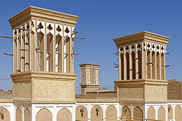 Windtower (wind catcher), Bagir, Yazd city, Iran, Middle East