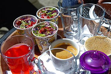 Sharbat, a sweet Iranian drink made from fruit or flower petals, Isfahan, Iran, Middle East