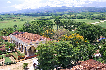 Plantation house on the Guainamaro sugar plantation, Valley de los Ingenios, UNESCO World Heritage Site, Sancti Spiritus region, Cuba, West Indies, Central America