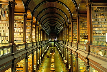 Gallery of the Old Library, Trinity College, Dublin, County Dublin, Eire (Ireland), Europe - 724-981