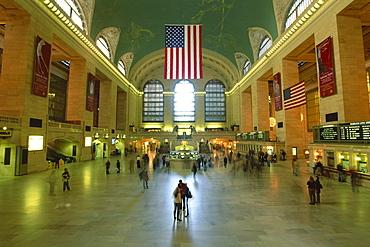 Interior of Grand Central Station, New York City, New York, USA, North America