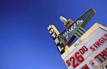 Sign, Yucca Motel, Las Vegas, Nevada, USA, North America