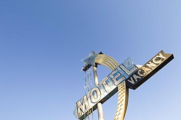 Motel sign, United States of America