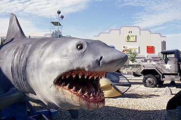 Jaws, model shark, Universal Studios, Florida, United States of America (U.S.A.), North America
