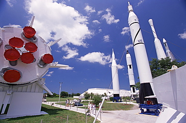 Space rockets, Space Museum, Florida, United States of America (U.S.A.), North America