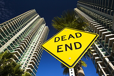 Dead End sign, San Diego, California, United States of America, North America