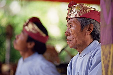 Head and shoulders portrait of a musician, island of Bali, Indonesia, Southeast Asia, Asia