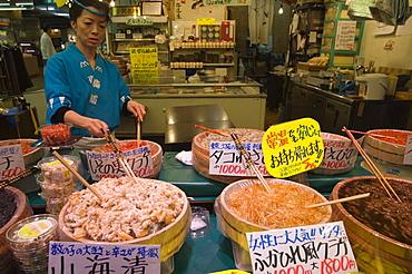 Omichi market, Kanazawa, Ishikawa prefecture, Japan, Asia