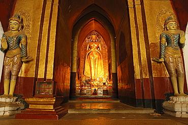 Ananda's hovering Buddha, Ananda Temple, Bagan (Pagan), Myanmar (Burma), Asia