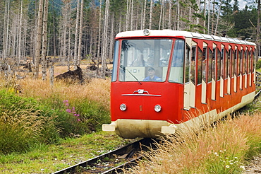 Funicular railway, High Tatras Mountains (Vyoske Tatry), Tatra National Park, Slovakia, Europe