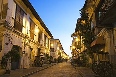 Spanish Old Town, ancestral homes and colonial era mansions built by Chinese merchants, UNESCO World Heritage Site, Vigan City, Ilocos Province, Luzon Island, Philippines, Southeast Asia, Asia