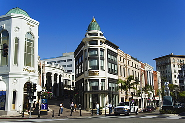 Designer boutiques in Rodeo Drive, Beverly Hills, Los Angeles, California, United States of America, North America