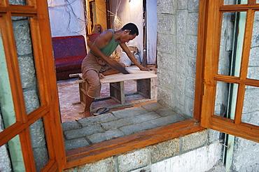 Carpenter, Yangon (Rangoon), Myanmar (Burma), Asia
